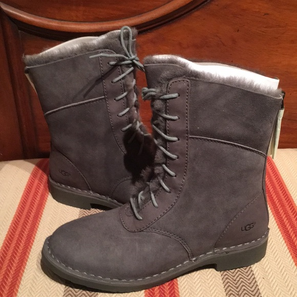 2e6a3f452ba Ugg Women's Daney Charcoal lace up boots